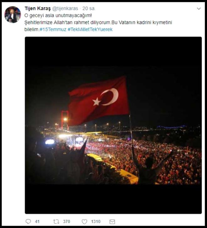 TRT'de Zorla Darbe Bildirisi Okutulan Tijen Karaş ve Ünlülerin 15 Temmuz Mesajları!