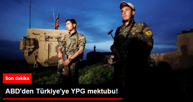 ABD'den Türkiye'ye YPG Mektubu! Silahların Geri Alınacağını Açıkladılar!