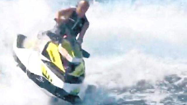 Ali Ağaoğlu Jet Ski'de Ters Taklaya Geldi, Kaburgası Kırıldı!