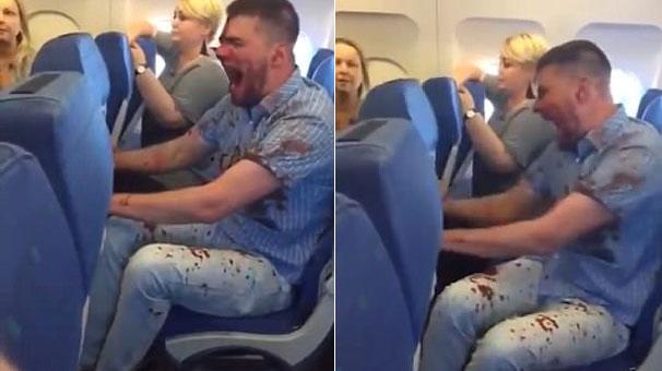 Antalya Uçağında Sarhoş Yolcu Dehşeti! Kanlar İçinde Kaldı, Yolcular Korku Dolu Anlar Yaşadı!