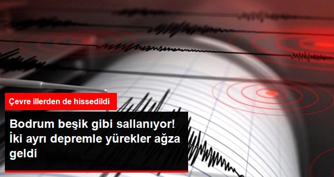 Bodrum'da Bodrum'da 4.8 ve 4.1 Büyüklüğünde İki Deprem Daha Oldu, Panik Hakim