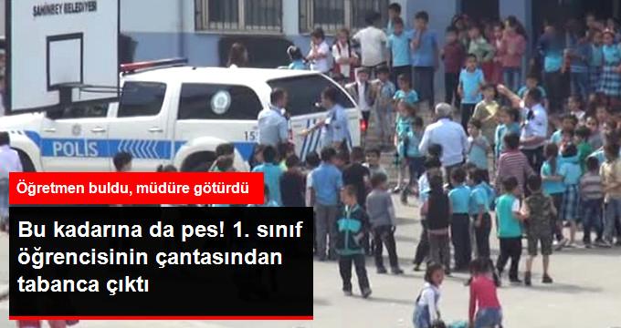 Durum Vahim! Gaziantep'te İlkokul Öğrencisinin Çantasında Tabanca Bulundu
