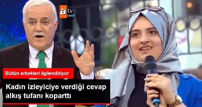 """""""Erkek Dar Pantolon Giyer mi?"""" Sorusuna Nihat Hatipoğlu'nun Verdiği Yanıt Uzun Süre Alkışlandı!"""