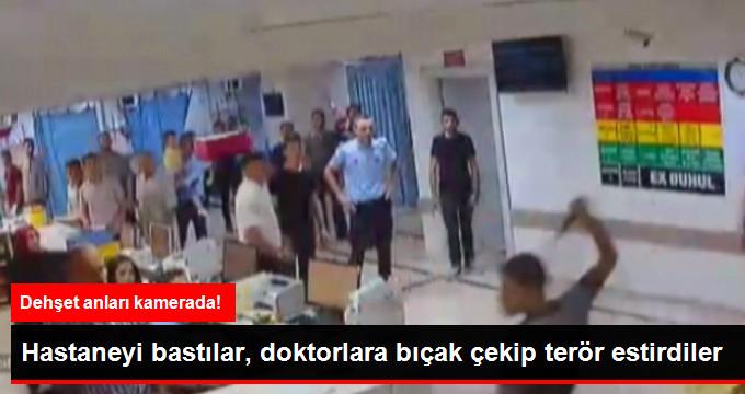 Gaziantep'te Hasta Yakınları Hastaneyi Basıp Doktora Bıçak Çekti! Dehşet Anları Kamerada!