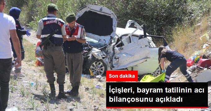 İçişleri Bakanlığı Kurban Bayramı Tatilinde Yaşanan Kazaların Bilançosunu Açıkladı: 122 Kişi Hayatını Kaybetti!