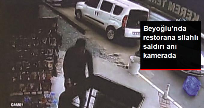 İstanbul Beyoğlu'nda Lüks Restorana Saldırı Anları Kameralarda