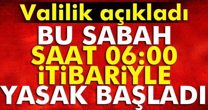 Mardin Valiliği Açıkladı! Bu Sabah 06.00 İtibari İle Yasak Başladı!