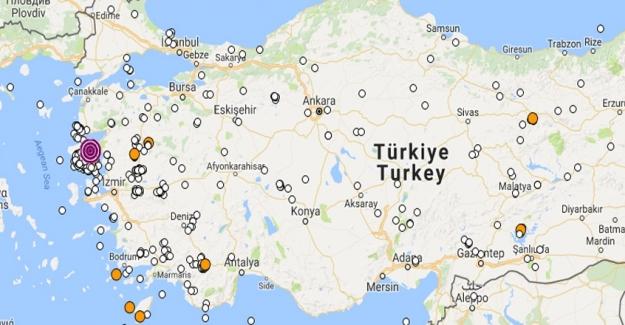 Son Dakika! İzmir Karaburun Açıklarında Deprem! Son Depremler 2 Temmuz 2017!