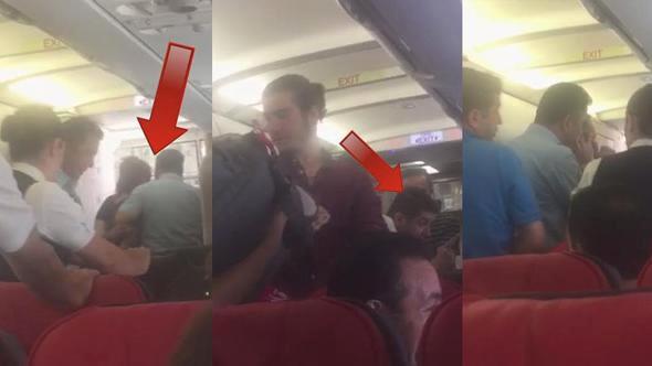THY Bodrum Uçağında Karı Koca Kavgası! Kocasının Telefonuna Bakan Kadın Uçağı Birbirine Kattı