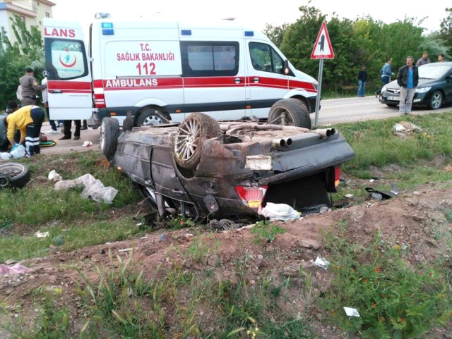 Ankara'da İkinci Kaza! Kontrolden Çıkan Araç Takla Attı, 3 Kişi Öldü!