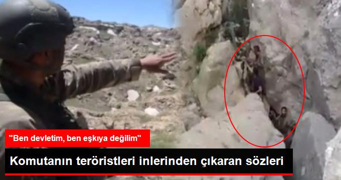 """Komutanın Sözleri Teröristleri İnlerinden Çıkardı: """"Bana Güvenin, Ben Eşkıya Değil Devletim""""! İşte O Görüntüler!"""