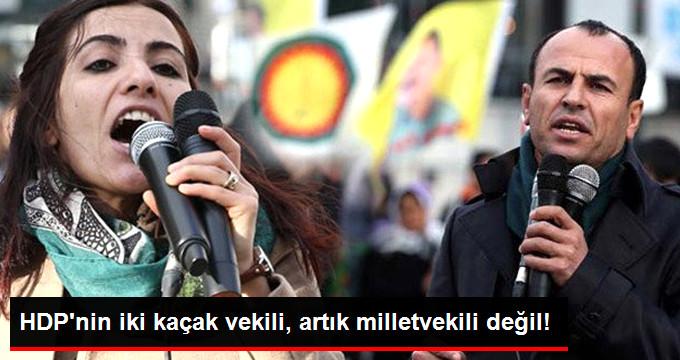 Son Dakika! HDP'li İki Vekilin Milletvekilliği Düşürüldü
