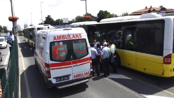 Son Dakika! İstanbul'da Metrobüs Bariyerlere Daldı, Yaralılar Var!