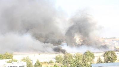 Gaziantep'te İplik Fabrikasında Büyük Yangın, Mahalle Boşaltılmaya Başlandı