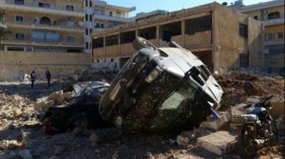 İdlib'de Hastaneyi Vurdular Ölü ve Yaralılar Var!