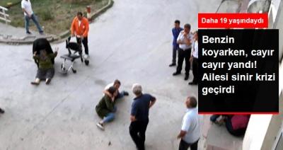 Korkunç Ölüm! Çim Biçme Makinesine Benzin Koyarken Alev Aldı, Yanarak Can Verdi