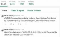 Niran Ünsal'dan Atatürk Tweetleri
