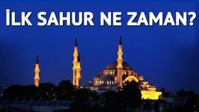 Ramazan Ayı 27 Mayıs Cumartesi İlk Sahur Ne Zaman Saat Kaçta?