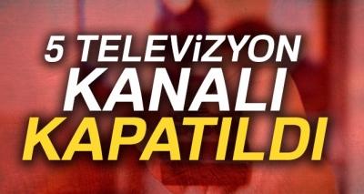 RTÜK'ten 5 Televizyon Kanalına Veto! Lisansları İptal Edildi!