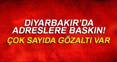 Son Dakika! Diyarbakır'da Belirlenen Adreslere Terör Baskını, Çok Sayıda Gözaltı Var!