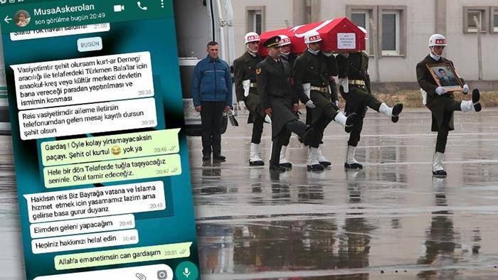 """Afrin'de Bir Musa! Afrin Şehidi Musa'nın WhatsApp Mesajlarındaki Vasiyeti Ortaya Çıktı: """"Şehit Olursam…"""""""