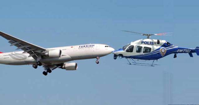 Atatürk Havalimanı'nda Büyük Panik! Polis Helikopteri ile THY Uçağı Havada Bir Anda Burun Buruna Geldi
