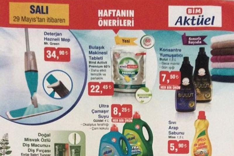 Bim 29 Mayıs 2018 Aktüel Ürünler Kataloğu ile Bu Hafta Bim Markete Gelecek Ürünler