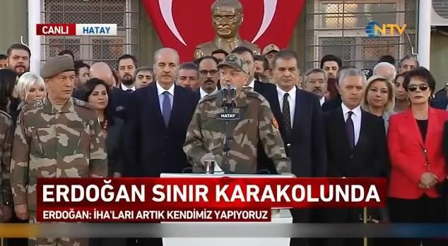 Cumhurbaşkanı Erdoğan Kamuflajları Çekip Ünlülerle Beraber Sınırı Ziyaret Etti! İşte Anlamlı Ziyaretten Özel Kareler