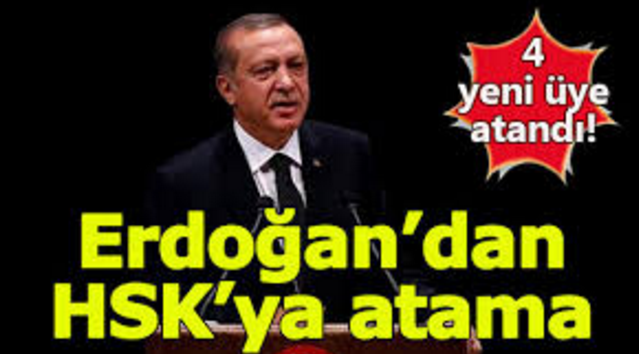 Cumhurbaşkanı Erdoğan HSK'ya 4 Yeni Üye Atadı!