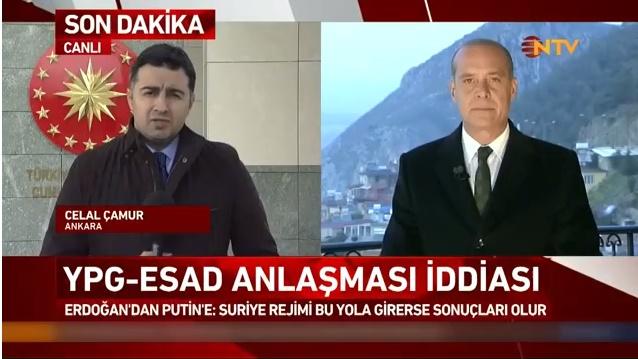 Erdoğan Putin'i Açıkça Uyardı: Esad Rejimi Afrin'e Girip Teröristlere Yardım Ederse, Sonucu Ağır Olur!