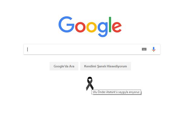 Google 10 Kasım'da Atatürk'ü Unutmadı