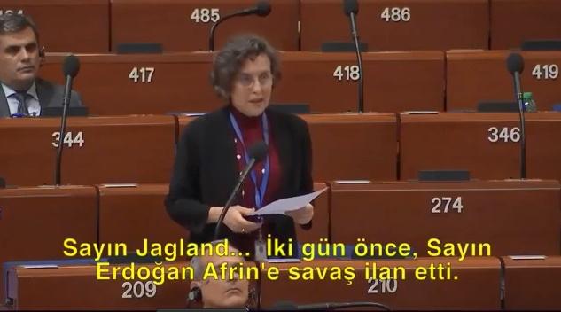 Hazmedemiyorlar! HDP'li Vekil Filiz Kerestecioğlu TSK'nın Düzenlediği Afrin Zeytin Dalı Harekatını Avrupa'ya Şikayet Etti!