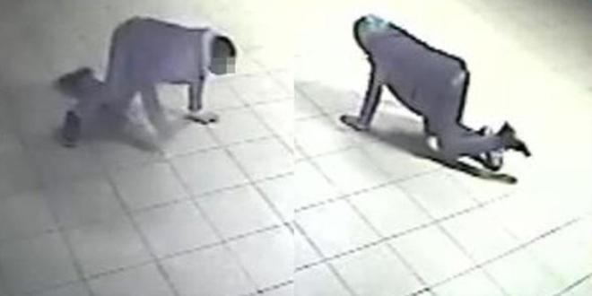 Hırsızlar Yerde Sürününce Görünmeyeceklerini Sandı Ama Güvenlik Kameraları Yakaladı