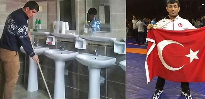 İşitme Engelli Milli Sporcunun Bu Görüntüleri Ortalığı Ayağa Kaldırdı! Tuvalet Temizletip Paspas Yaptırıyorlar