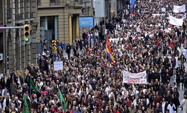 İspanya'da Hakim ve Savcılar Greve Gitti