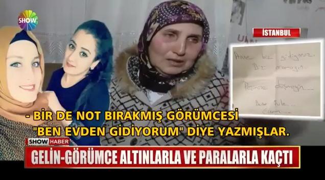 İstanbul'da Akıllara Durgunluk Veren Olay! Kocasını Terk Eden Kadın, Görümcesi ile Birlikte Kaçtı