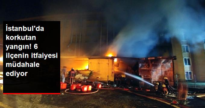İstanbul'da Deri Fabrikasında Büyük Yangın! 6 İlçeden İtfaiye Ekiplerinin Müdahale Ettiği Yangın Hala Söndürülemedi!