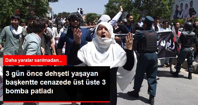 Kabil'de Cenazeye Art Arda Üç Bombalı Saldırı: 14 Ölü 10 Yaralı