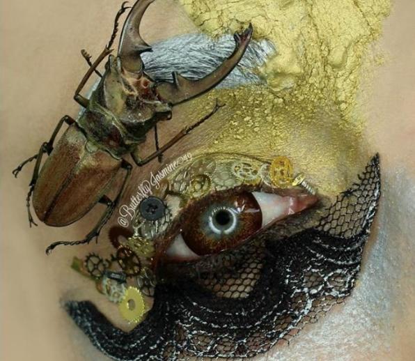Makyajda Yeni Trend Mi Başlıyor! Ünlü Artist Makyajında Gerçek Böcek Kullandı