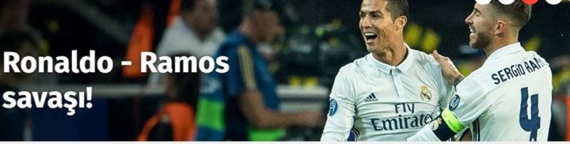 Real Madrid'de Kötü Gidişatın Nedeni Cristiano Ronaldo – Sergio Ramos Savaşı Mı?