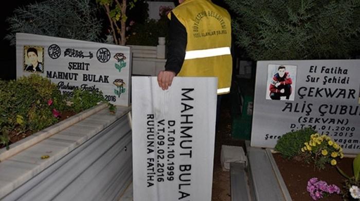 Savcılık Talimat Verdi! PKK'lı Hainlerin Şehit Yazan Mezar Taşları Değiştirildi