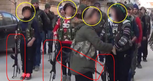 Skandal Fotoğraflar! Afrin'de Darbe Üstüne Darbe Yiyen YPG Eline Silah Verdiği Küçük Çocukları Cepheye Sürecek