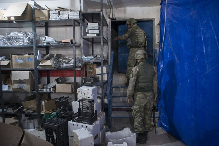 Yerin Metrelerce Altına İnşa Etmişler! Afrin'de Teröristlerin Tam Teşekküllü Hastanesi Bulundu!