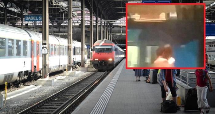 Yolcular Şaşkına Döndü! İki Erkek Tren İstasyonunda Çırılçıplak Cinsel İlişkiye Girdi