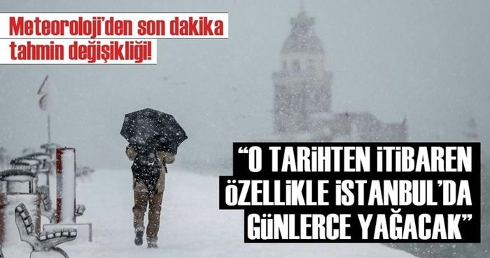 Meteoroloji Tahmin Değiştirdi! İstanbul'a Kar Ne Zaman Yağacak?