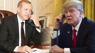 ABD Başkanı Trump'tan Cumhurbaşkanı Erdoğan'a Telefon! Suriye Krizini Konuştular