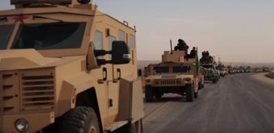 ABD'nin Verdiği Zırhlı Araçlarla PKK'lı Teröristler Türkiye Sınırında Şov yaptı