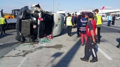 Atatürk Havalimanı'nda Feci Kaza 9 Kişi Yaralandı