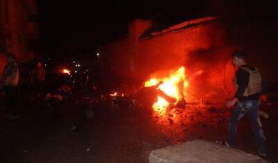 Bomba Yüklü Araç Patlatılmıştı! Kamışlı'daki Kanlı Saldırıdan İlk Fotoğraflar