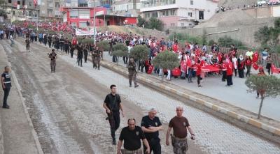 Bu Görüntüler Şırnak'tan! Polis, Asker ve Vatandaş Birlikte Yürüdü!